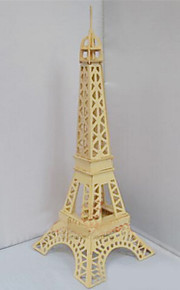 3D Puzzles Three-Dimensional Puzzles Educational Toys Wooden Simulation Mode Quad Wooden Puzzles Eiffel Tower In Paris