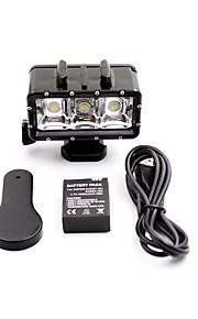 Super Brightness Professional Camera 30M Waterproof 3-LEDS Night Diving Fill Light For Gopor hero 3/3+/4/SJ4000