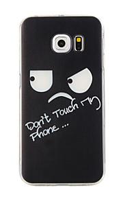 telefon dækning for s6 kant + blød Gennemsigtig TPU dyr kat fjer mønstre telefon Taske til Samsung Galaxy s6 kant