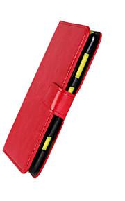 tirón de la carpeta de la PU cubierta de la caja del teléfono celular de cuero para el lumia 625