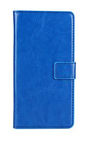 estilo de la carpeta patrón del color sólido de la PU de cuerpo completo cubierta protectora con el soporte para HTC Desire 310