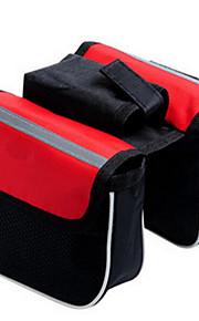 自転車用フレームバッグ レジャースポーツ / 旅行 / サイクリング のために 他の同様のサイズの携帯電話(反射ストリップ / 防塵 / 耐久性 / 多機能の,レッド / ブラック / ブルー,テリレン)