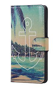 앵커와 바다 자기 PU 가죽 지갑 플립 K5 X220을 LG에 대한 케이스 커버 스탠드