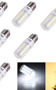 4W E14 / E26/E27 LED-kornpærer T 56 SMD 5730 240 lm Varm hvit / Kjølig hvit Dekorativ AC 220-240 / AC 110-130 V 6 stk.