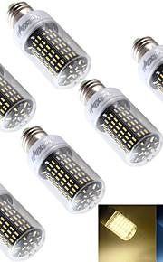 6W E26/E27 LED-kornpærer T 138 SMD 4014 400 lm Varm hvit / Kjølig hvit Dekorativ AC 220-240 / AC 110-130 V 6 stk.