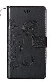 para Nokia Lumia 950/730/640 xl / 640/530 flores patrón de mariposa en el interior y la caja de cuero titular de la impresión fuera