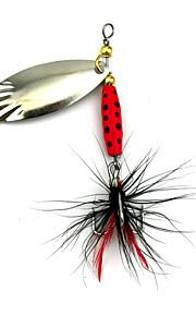 Hengjia 10pcs Spoon Metal Fishing Lures 70mm 8.4g Spinner Baits Random Colors