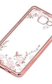 geheime tuin bloem vlinder diamanten zachte TPU Cover voor Samsung Galaxy j series