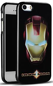unikt preget iron man beskyttende bakdekselet myk iphone case for iphone se / iphone 5s / 5
