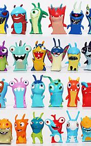 2016 nya 24pcs / set 5cm anime tecknad slugterra mini pvc actionfigurer leksaker dockor barn leksaker
