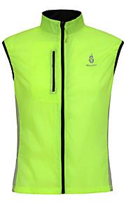 男女兼用-高通気性 / 抗紫外線-サイクリング-バギーショーツ-トップス(グリーン,グリーン) -ノースリーブ