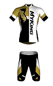 男女兼用-高通気性 / 抗紫外線 / 速乾性-レジャースポーツ / サイクリング-ショーツ-ジャージ(ブルー,ブラック) -半袖