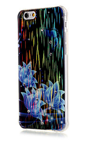 Luxury Brushed TPU Blue Flowers Pattern Phone Shell Drop Resistance for iPhone 6/6S/6 Plus/6S Plus