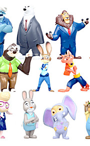 Mini 12 PCS furnishing articles dolls dolls anime peripheral city Judy zootopia crazy animals