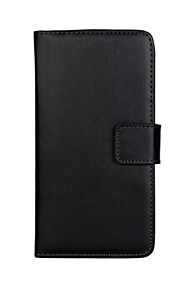 caja de cuerpo completo de cuero genuino color sólido con el soporte y la tarjeta de la ranura para HTC Desire V T328W