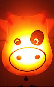 creatieve warm witte koe lichtsensor met betrekking tot kindje slaap 's nachts licht (willekeurige kleur)