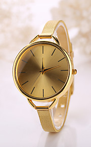 caso de ouro banda de aço inoxidável de jóias relógio de pulso de moda vestido