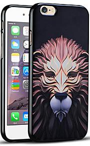høy kvalitet preget løve beskyttende bakdekselet myk iphone case for iphone 6s / iphone 6