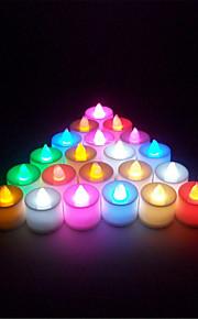 1pcs / satt mini flere farger ført elektronisk stearinlys lampe for bryllupsfesten juledekorasjon