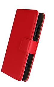 caja de cuerpo completo cuero genuino patrón de color sólido con el soporte y la tarjeta de la ranura para lumia 820
