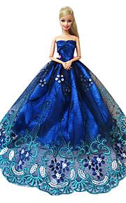 Barbie Doll Elegant Sapphire Evening Party Dress