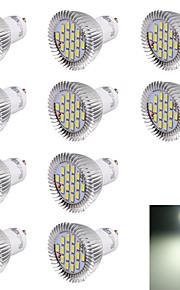 7W GU10 LED-spotpærer R63 16 SMD 5630 560 lm Kjølig hvit Dekorativ AC 220-240 V 10 stk.