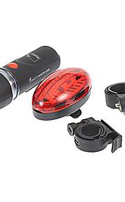 자전거 라이트,프론트 라이트 + 꼬리 빛 키트-5 모드 100 루멘 휴대하기 쉬운 AAAx3 배터리 사이클링/자전거 블랙 / 레드 자전거 Other 5