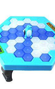 rompere il ghiaccio gioco di puzzle del desktop pinguino bussare giocattoli ghiaccio blocchi di costruzione di interazione blu bianco