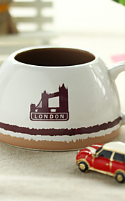 1st 5,6 * 9,1 * 5.8cm europeiska kreativa keramiska kaffekopp
