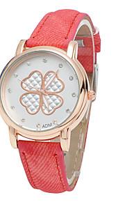 trevos de moda feminina denim simulação mostrou que o relógio de quartzo (cores sortidas)