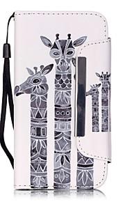 modello giraffa pu leahter copertura completa del corpo con supporto e slot per schede per Samsung Galaxy S4 S5 S6 s6edge s7 s7edge