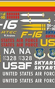 Skyartec rc avión F-16 de repuesto pegatina partes (f16-09)