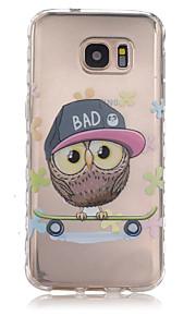 cassa del telefono TPU modello slittamento gufo cartone animato per il bordo / s7 Samsung Galaxy s7