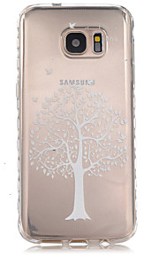 White Trees Pattern Slip TPU Phone Case For Samsung Galaxy S7/S7 edge