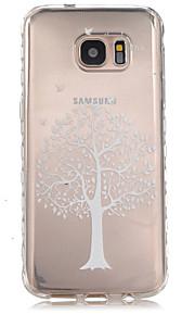 サムスンギャラクシーS7 / S7エッジのための白い木パターンスリップTPU電話ケース