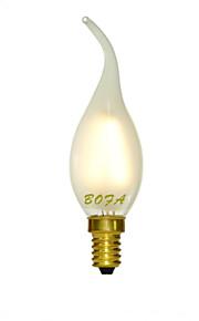 3W E14 / E12 / E26/E27 LED-lysestakepærer C35 4 COB 150-240 lm Varm hvit / Kjølig hvit Dimbar / Dekorativ AC 220-240 / AC 110-130 V 1 stk.