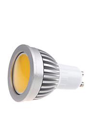 1 stk. Bestlighting GU10 3W 1 COB 450 lm Varm hvit / Kjølig hvit MR16 Dekorativ LED-spotpærer AC 85-265 V