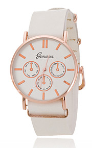 Unisex Wrist Watch Rose Gold Ring White Plate Scale Quartz Watch Men And Women Belts Geneva (Assorted Colors)