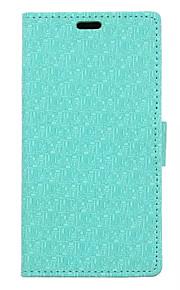nuevo modelo del laberinto textura del paño de la tarjeta monedero de cuero del soporte del tirón la cubierta del caso para el lumia 650