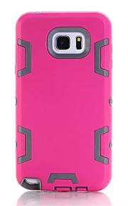 silicone&plastic 3 in 1 armor hybride bescherming achterkant van de behuizing voor Samsung Galaxy Note 5 mobiele telefoon dekking