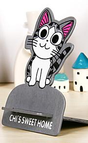 회색 고양이 패턴은 아이폰 / 삼성 및 다른 휴대 전화에 대한 홀더를 장착