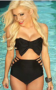 The New European Version Of The Casual Beach Wrapped Chest High Waist Swimsuit Split Two-piece Swimsuit Bow