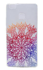 TPU transparante dunne geluk bloem voor Huawei p9 / p9 lite
