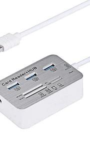 3.0 puertos / interfaz USB lector de tarjetas USB 7.7 * hub 3.8 * 1.4