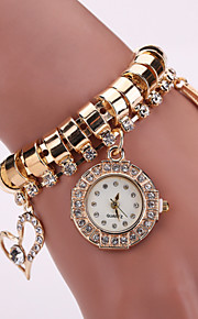 Mulheres Relógio de Moda Quartz Relógio Casual Lega Banda Relógio de Pulso Prata / Dourada