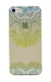TPU material pattern máscara verde caixa do telefone fino para iphone SE / 5s / 5