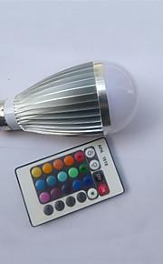 9W E26/E27 LED-globepærer A50 1 Høyeffekts-LED 450-600 lm RGB Fjernstyrt AC 85-265 V 1 stk.