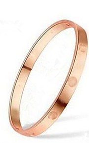 Bangles 1pc,Gylden / Rosa Armbånd Moderigtig Titanium Stål / Rødguldbelagt Smykker Unsex