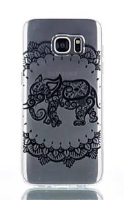 caso elefante modello TPU materiale di telefono per Galaxy S4 / s4mini / S6 / S6 bordo / bordo S6 plus / S7 / bordo s7