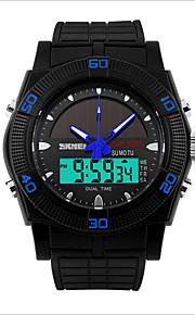 Herre Sportsur Digital LED / Vandafvisende PU Band Armbåndsur Sort